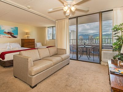 Photo for Royal Kuhio Condo with Sweeping Views, Pivate Lanai, Full Kitchen, Parking