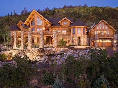 Photo for Gorgeous Montana Log home, custom made for large groups!