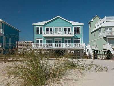 Photo for Gulf Front Beach Home:2 Pools, Elevator, 5/5.5 sleeps 15
