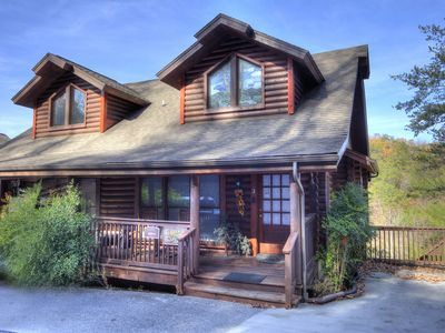 Photo for Lucky Logs 283 luxury log townhouse in Pigeon Forge close to Dollywood