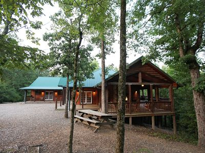 Photo for Timber Rock  Lodge  - Large Authentic Lodge accommodating families and groups