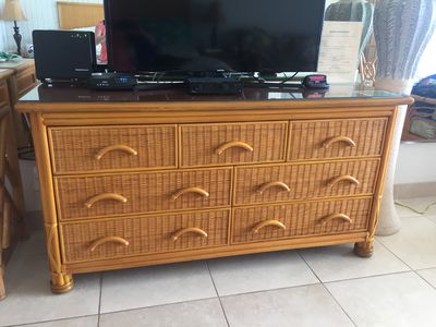 New chest of drawers. And  large TV