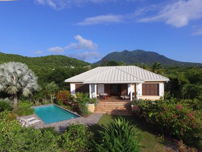 Photo for Private Nevis Villa with Stunning Views of St Kitts and Caribbean Sea