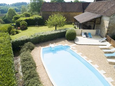 Photo for Comfortable cottage with private pool, 9 P