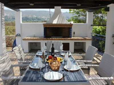 Photo for Luxury villa, sleeps 6, few minutes walk to quiet and beautiful beaches.