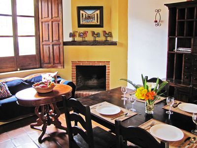 Photo for Central Antigua apartment with kitchen & fireplace