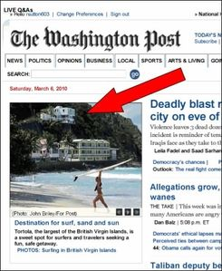 Washington Post Front Page  Picture