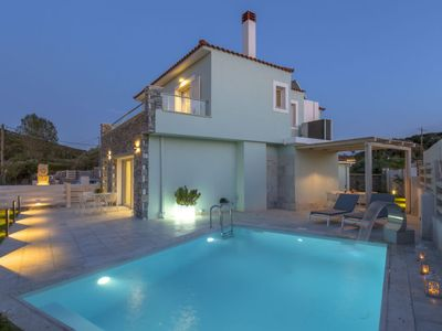 Photo for Palaiokastro Holiday Home, Sleeps 9 with Pool, Air Con and WiFi