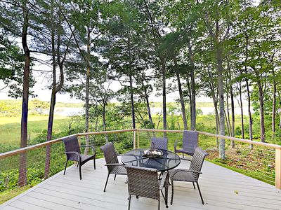 Deck - Enjoy the beautiful nature views in the comfort of the deck seating.