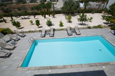 View of the Pool from the upstairs Verandah