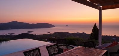 Photo for Private Villa with Pool and Stunning Views of the Aegean Sea