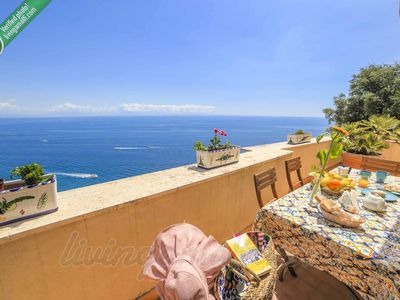 Photo for LivingAmalfi: The Sunflower apartment in Amalfi with sea view, close to the sea