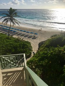 The beach taken from the steps/lift