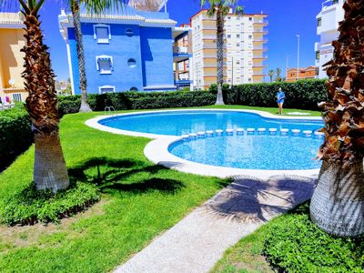 Photo for Apartment with three bedrooms, pool, garage, tennis court and WIFI!