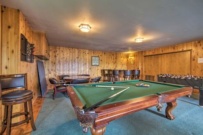 Practice your pool and keep the kids entertained in the game room.