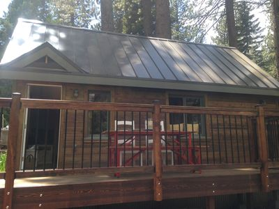 Photo for Walk to the lake or hike/bike the nearby trails steps out the front door!