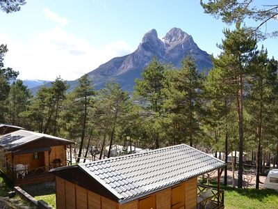 Photo for Cabin or bungalow Camping Repòs del Pedraforca for 5 people