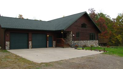 Photo for Beautiful Secluded Get-Away for 8-13 on 30 wooded acres near many lakes!!