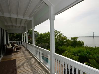 Photo for Inviting, waterfront home w/ private pool, Jacuzzi, & balcony w/ ocean views