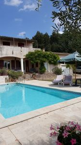 Photo for 3 Bed Air-Conditioned House (sleeps 6) with Pool and Stunning Views, Near Uzes