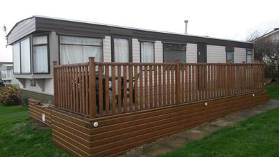 Photo for Lovely Caravan, Brilliant Sea Views/location, GOLF , Cromer/Trimingham/ Norfolk