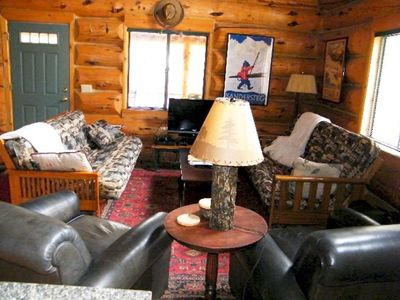 Photo for Chateau Relaxeau Cozy Log Cabin in the Woods