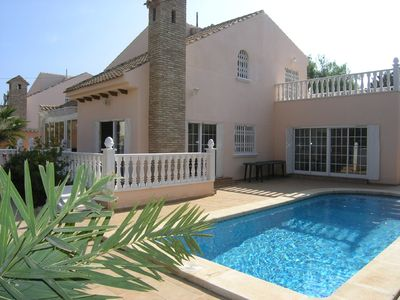 Photo for Beach side villa in Playa Flamenca on the Costa