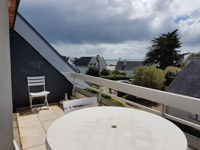 Photo for South facing apartment facing the sea with large terrace