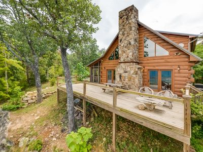 Photo for SCENIC VIEW. Hunters` Lodge. Lookout Mountain Bluff View Cabin. 50% Down To Reserve.