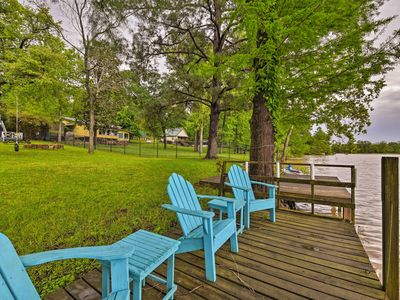 Photo for NEW! Goodrich Private Lake House w/ Dock & Firepit