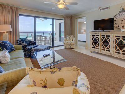Photo for Nice Gulf Front Condo! Fitness Center, Community Pool, Free WiFi, & Other Amenities!