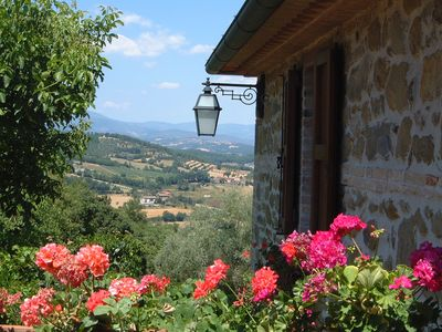 Fabulous views over the Padonchia Valley towards the Appenine mountain range