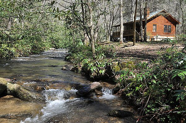 Enjoy the great outdoors with this 2 bedroom creekfront - 4 bedroom cabins in north carolina ...