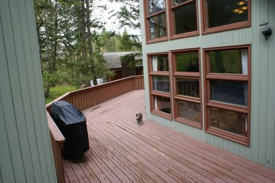 HUGE deck! with BBQ. Patio furniture has been added