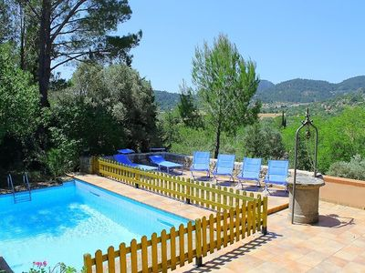 Photo for This 3-bedroom villa for up to 5 guests is located in Mancor De La Vall and has a private swimming p