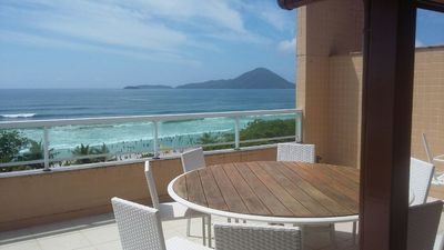 Photo for Duplex Penthouse facing the sea in the best point of the Great beach in Ubatuba!