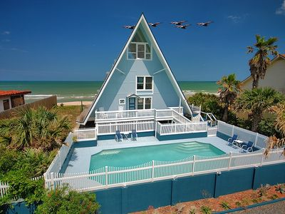 Photo for Captains Cottage - 3 Bedroom oceanfront home with a sparkling pool.
