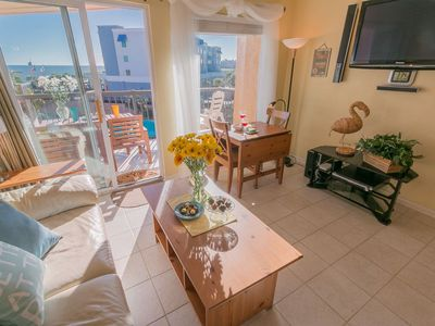 Photo for Top-Floor Ocean & Pool View! 3 pools/1heated/Hot tub. Jet-tub. Balcony open.