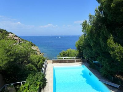 Photo for Family House - Sanary-sur-Mer with beautiful seaview and facing the sunset. (Cote d azur)