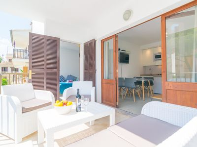 Photo for EDIFICIO PLAYA (CIRERERS 1A) - Apartment with terrace in Puerto de Alcudia.