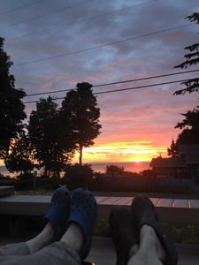 Summer sunset from the deck.