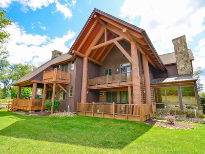 Photo for Modern ski in/out chalet w/ hot tub & 3 master suites!