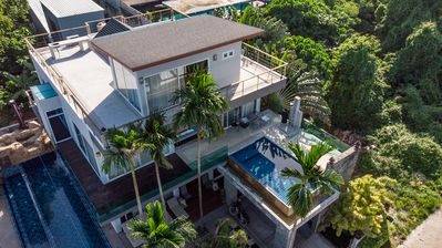 Photo for 8 Bedroom Ocean View Villa in Rawai.  3 swimming pools, zip line. Serenity Villa