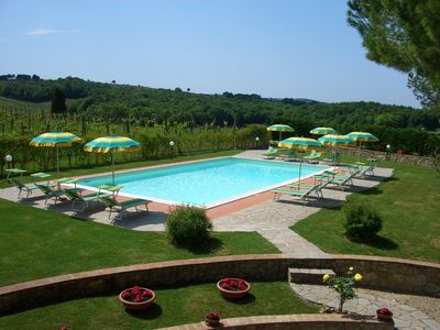 Photo for Large apartment with pool in the countryside of San Gimignano free wi-fi and tv