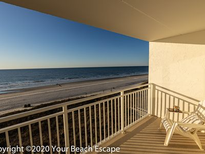 Photo for 👓Beach OPEN! MidJul Avail!4 nt minimumOcean Front 2 BR, Wide Pvt Balcony.CLEAN!