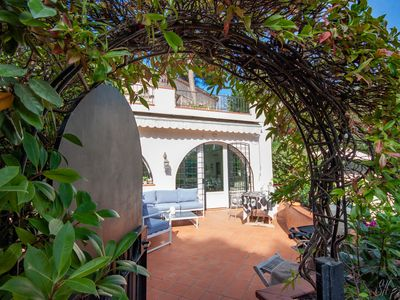 Photo for 2 bedroom apartment at Antibes / Cap d'Antibes with garden and swimming pool