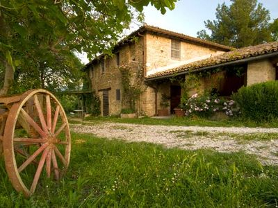 Photo for STONEWALL CASALE with POOL and WIFI  SPLENDID VIEW on SPOLETO VALLEY