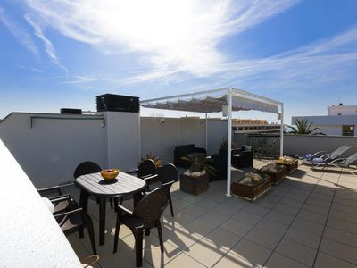 Photo for ATIC with solarium terrace and barbecue. Beach at 100m