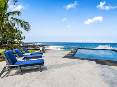 Photo for Large Oceanfront private home nestled on a half acre lot on Ali'i Drive!