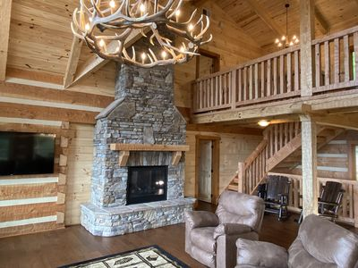 Photo for Selah View  Stunning 5 BR mountain lodge - Incredible views, 3mi to Pigeon Forge